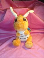 Dragonite Plushie by AdorkableByDesign1