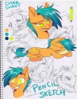 Pencil Sketch OC model sheet by Graystripe64