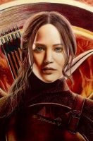 Katniss Everdeen - colored pencils by Joanna-Vu