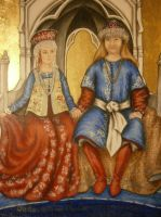 Ducal Triptych - Central Panel Detail by Merwenna