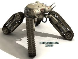 TRACKED-LEGGED COMBAT ROBOT by CUTANGUS