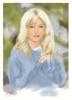 Blue Sweater - Painter Sketch by MichaelCrichlow
