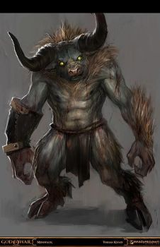 god of war - minotaur by tobiee