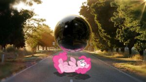 Curious Pinkie Pie - MLP IRL (Wallpaper) by CursyPon3