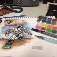 Watercolor Barbarian by stourangeau