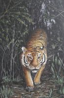 Something in the forest stirs by acrylicwildlife