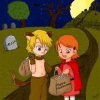 Digimon - Happy Halloween by Ayumi-NB