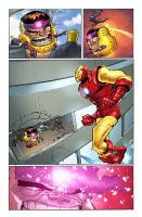 Iron Man and MODOK 3 by chadf