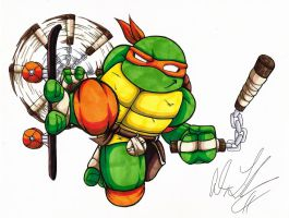 TMNT Tribute- Michelangelo by toonartist