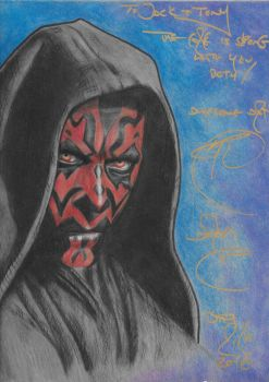 Darth Maul-Prismacolor-signed by Ray Park by Skubis
