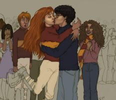 Harry+Ginny old news-HBP by VanishingShmink