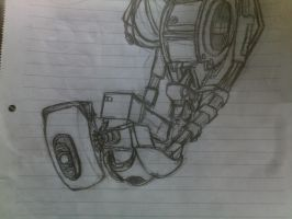 GLaDOS from memory by AdmiralNuke
