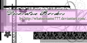 Decorative Borders by Whatsername777