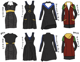 Batfamily Dresses by Robinade