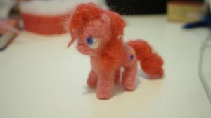 Felted Pinkie Pie by Dash-a