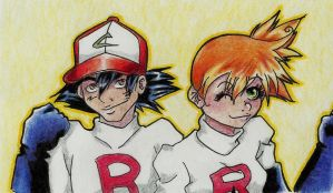 Here comes Team rocket by Schitzo-Cupcake