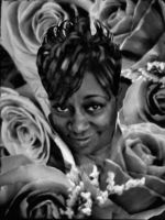 Black and white roses by richair