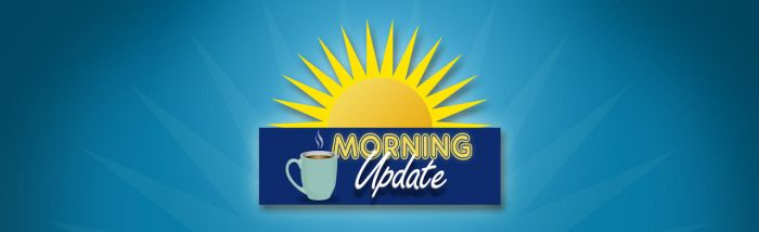 Morning Update Title Slide by graph-man