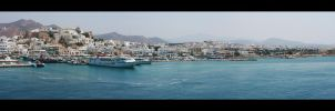 Naxos Port by Water-flower