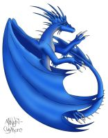 Kaiyra the Sapphire Dragon by Rin-Claymore