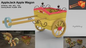 AppleJack Apple Wagon by VeryOldBrony