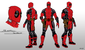 Deadpool Toy Turnaround by dwaynebiddixart