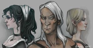 The Witcher sketches by SceithAilm