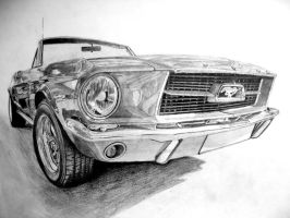 Ford Mustang before coloring by DreamDrawing