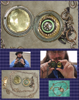 Steampunk Pocket Compass 3 by Windthin