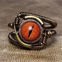 Steampunk Eye catching Ring by CatherinetteRings