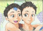 Aang and Ganta by guchi-22
