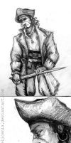 Unpublished sketches - William Hall by elicenia