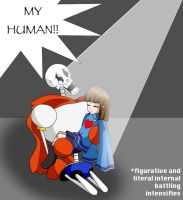 What did the Papyrus catch in his eye? by colorfulpuppehkat