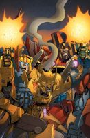 Transformers RID #16 cover colors by khaamar