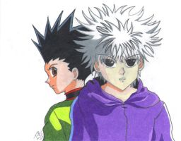 Gon and Killua by somechick73