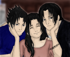 Uchiha Family coloured by mtbstyle
