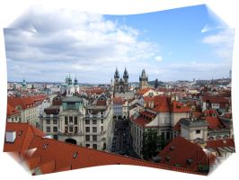 Rooftop View of the Old City Square - Prague by Valkyrja-Skuld