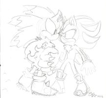 Shadow vs. Werehog by SuperSkyseeker