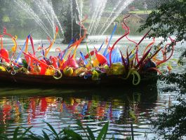 Chihuli Blown Glass Boat Party by aegiandyad