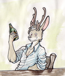 Brian the jackalope by TheStrangeThing