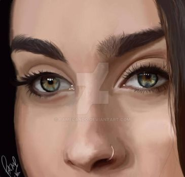 Lauren Jauregui eyes  by pamecando