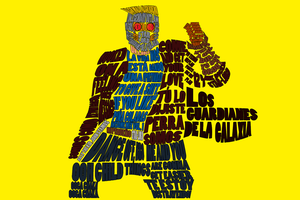 Star-Lord Typography by supermarton