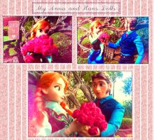 Hans give Flowers to Anna by violetatranceart