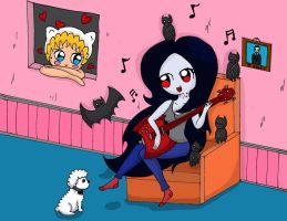 Marceline singing by MarcelineSexyVampire