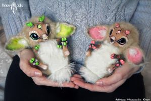 Baby deer. Rin and Ayia. by Flicker-Dolls