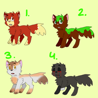 Wolf Pup adopts OPEN [4/4] by AgenderedKing