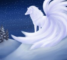Merry Christmas: Shiny Ninetails by UnoChara