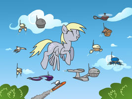 The Unmanned Muffin Drones of Dr. Derpy PhD. Esq. by Lord-Bovlington
