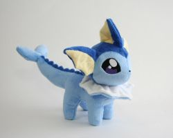 Vaporeon Chibi Plush by Yukamina-Plushies