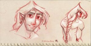 Male character design for a fantasy project by juanbauty